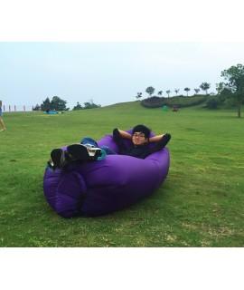 欧美lamzac懒人户外充气沙发沙滩椅便携式折叠空气沙发床